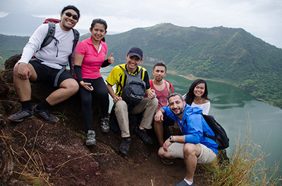 The smallest volcano in the world. Taal Volcano / Philippines